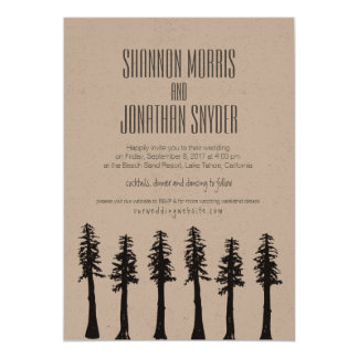 Redwood Trees Invitation / Mountain Wedding