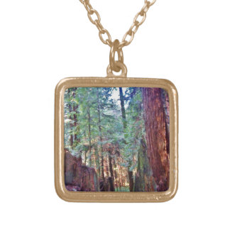 Redwoods Series #2: Through the Trees Gold Plated Necklace