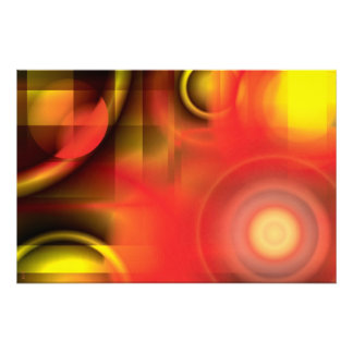 RedYellow Abstract Photographic Print