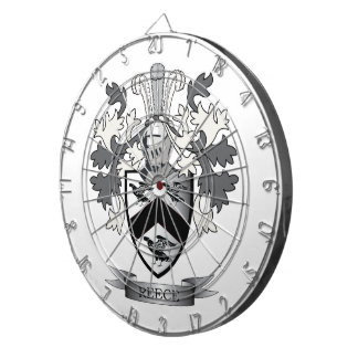Reece Family Crest Coat of Arms Dartboard
