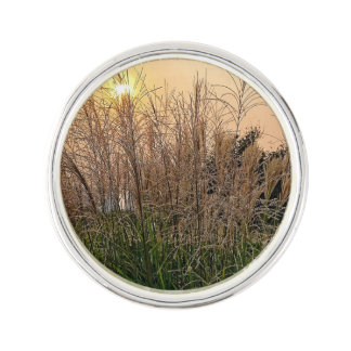 Reed At Sunset Lapel Pin