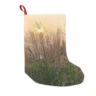 Reed At Sunset Small Christmas Stocking