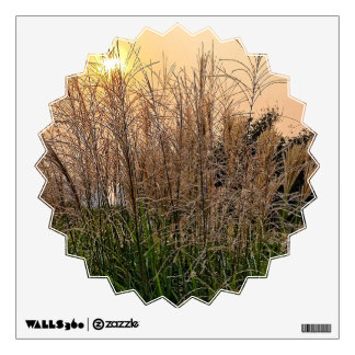Reed At Sunset Wall Sticker