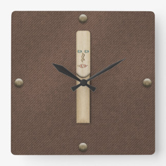Reed for Clarinet, Saxophone, or Oboe Musician Square Wall Clock
