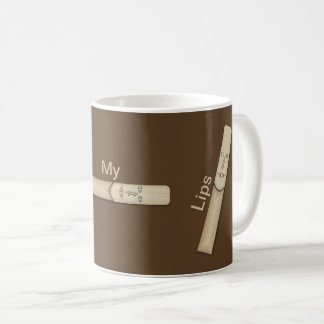 Reed My Lips for Reed Musicians Coffee Mug