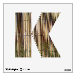 Reed pattern wall decal