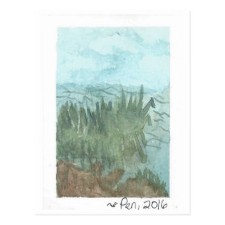 Reeds on the Water - postcard (watercolor)