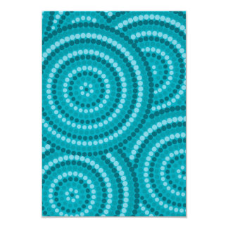 Reef aqua dot painting card