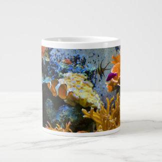 reef fish coral ocean large coffee mug