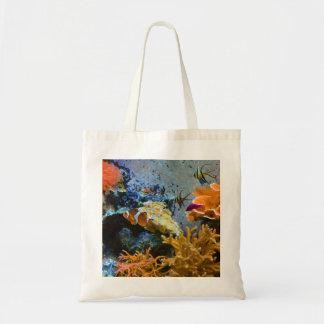 reef fish coral ocean tote bag