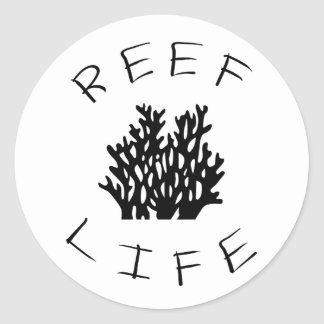 Reef Life Classic Round Sticker