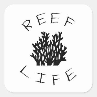 Reef Life Square Sticker