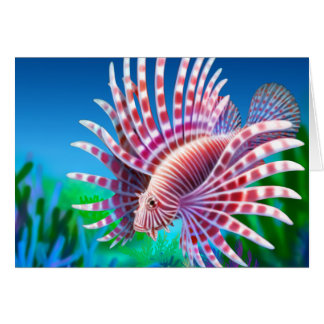 Reef Lionfish Card