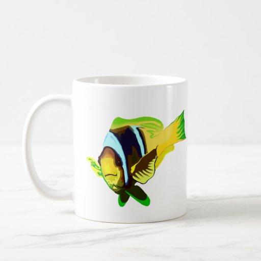Reef Marine Life: Clark's Anemonefish Basic White Mug
