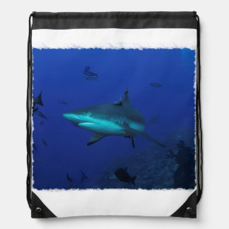 Reef Shark Drawstring Backpack