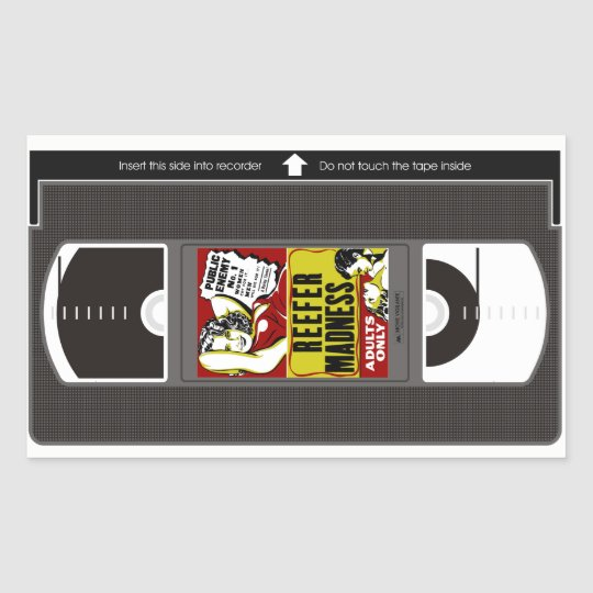 Reefer Madness VHS Sticker