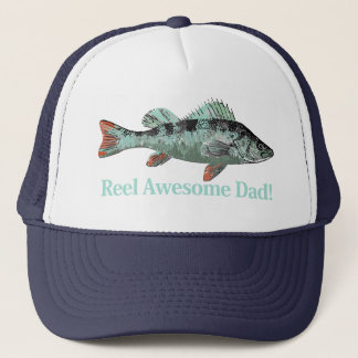 Reel Awesome Dad Fun Father's Quote Trucker Hat