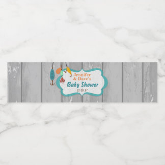 Reel Excited Fishing Baby Shower Bottle Labels