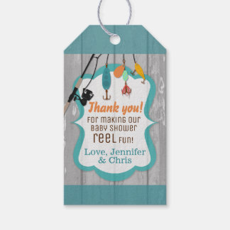 Reel Excited Fishing Baby Shower Party Favour Tags