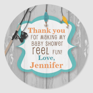 Reel Excited Fishing Thank You Baby Shower Tags