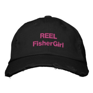 REEL FisherGirl in Black Embroidered Hat