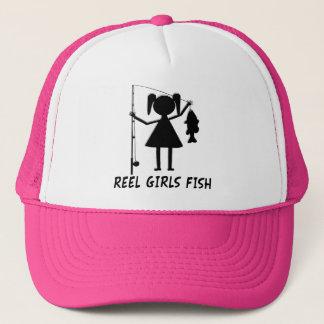 REEL GIRLS FISH TRUCKER HAT