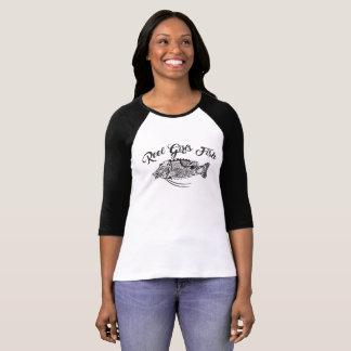 Reel Girls Fish Women's  3/4 Sleeve Raglan T-Shirt