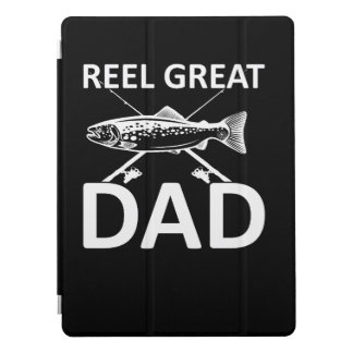 Reel Great Dad Cute Fishing Dad Saying iPad Pro Cover