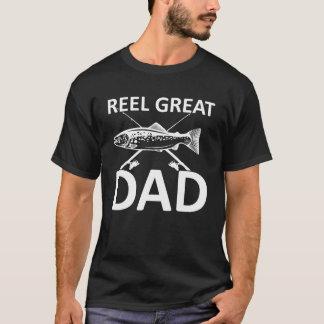 Reel Great Dad Cute Fishing Dad Saying T-Shirt