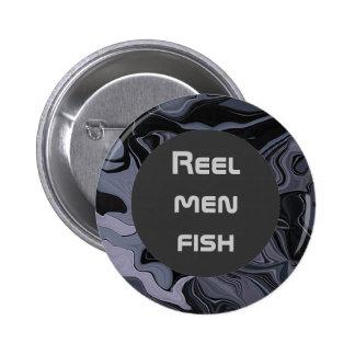 Reel men fish button