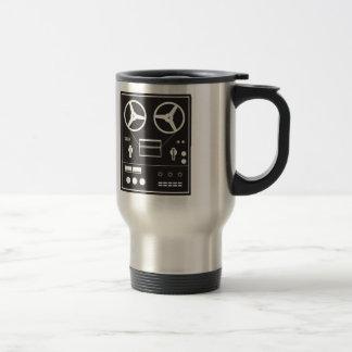 reel tape recorder 15 oz stainless steel travel mug