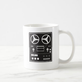 reel tape recorder coffee mug