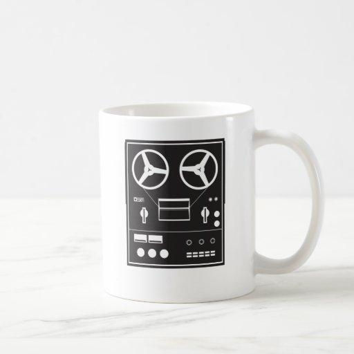 reel tape recorder mug