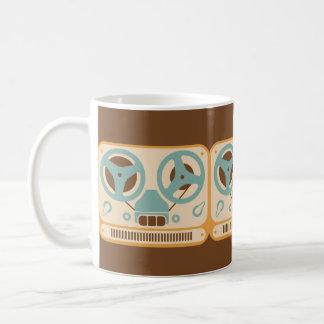 Reel to Reel Analog Tape Recorder Classic White Coffee Mug