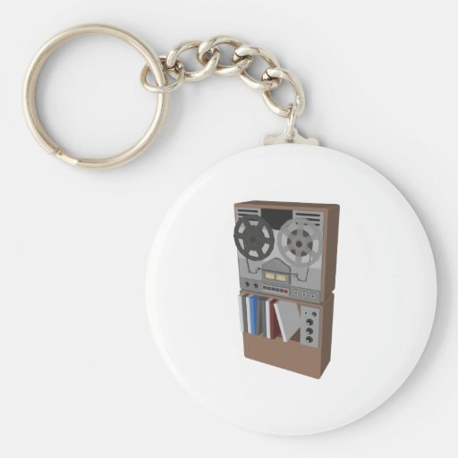 Reel to Reel Tape Player: 3D Model: Keychains