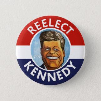 REELECT JFK JACK KENNEDY 2 INCH ROUND BUTTON