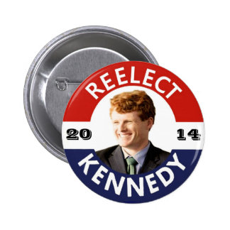 REELECT JOE KENNEDY 2014 2 INCH ROUND BUTTON