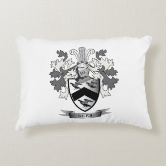 Rees Family Crest Coat of Arms Decorative Pillow