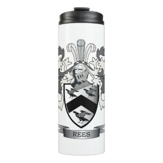 Rees Family Crest Coat of Arms Thermal Tumbler