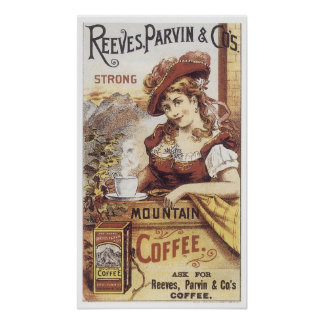Reeves Parvin Strong Coffee Poster