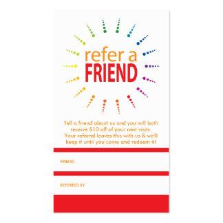 refer a friend rainbowBurst Business Card