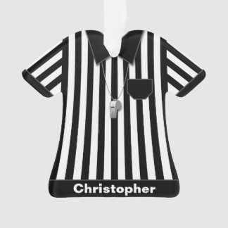 Referee Black & White Striped Uniform Personalized