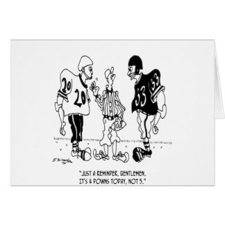 Referee Cartoon 5446 Card