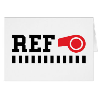 Referee - ref - design with red whistle card