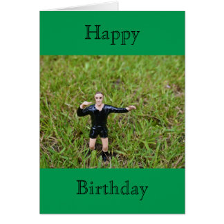 Referee Soccer/Football Happy Birthday Card