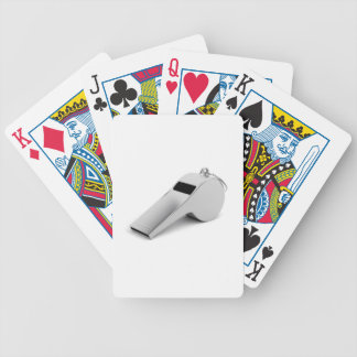 Referee whistle bicycle playing cards