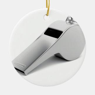 Referee whistle ceramic ornament