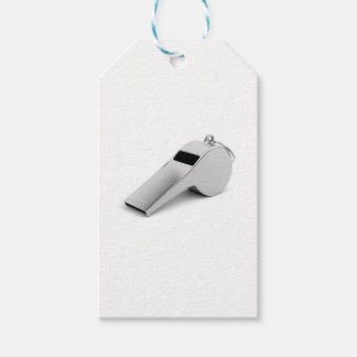 Referee whistle gift tags