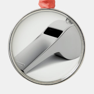 Referee whistle metal ornament