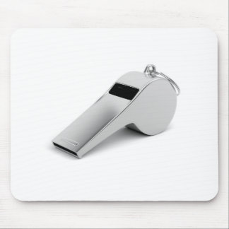 Referee whistle mouse pad